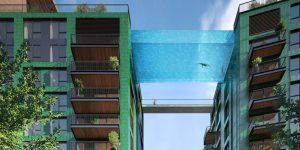 Piscina a 35 metros de altura conecta prédios em Londres