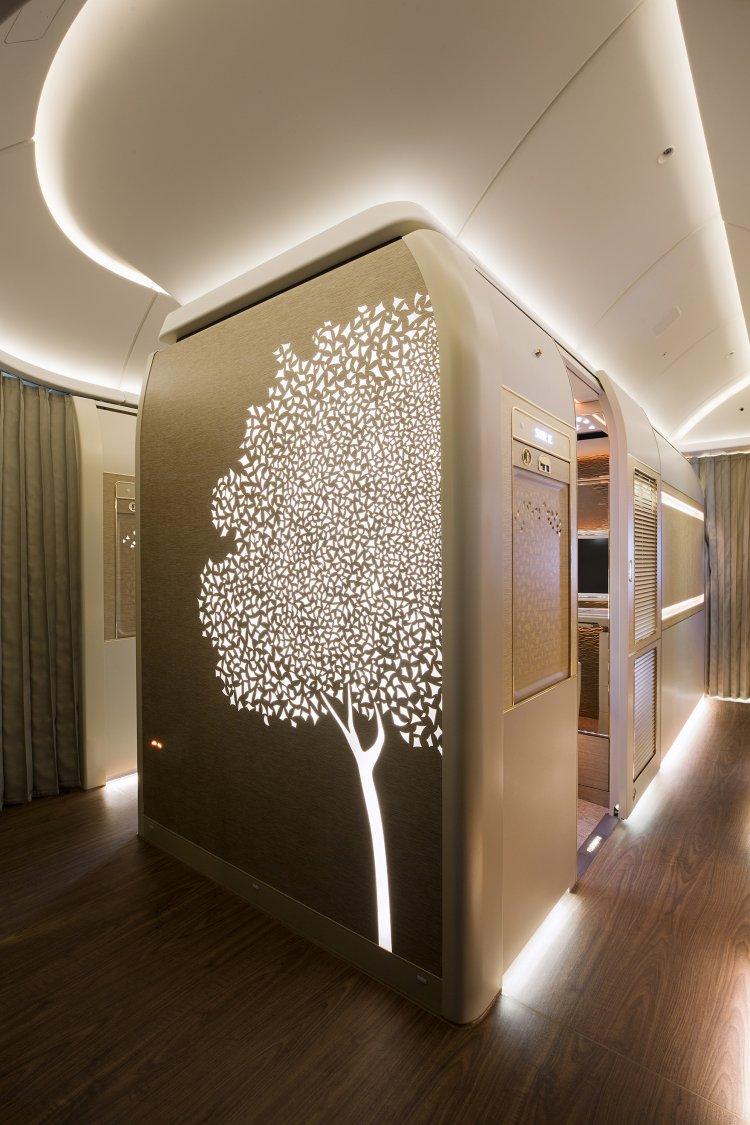 As imagens com a árvore Ghaf podem ser encontradas em toda a cabine