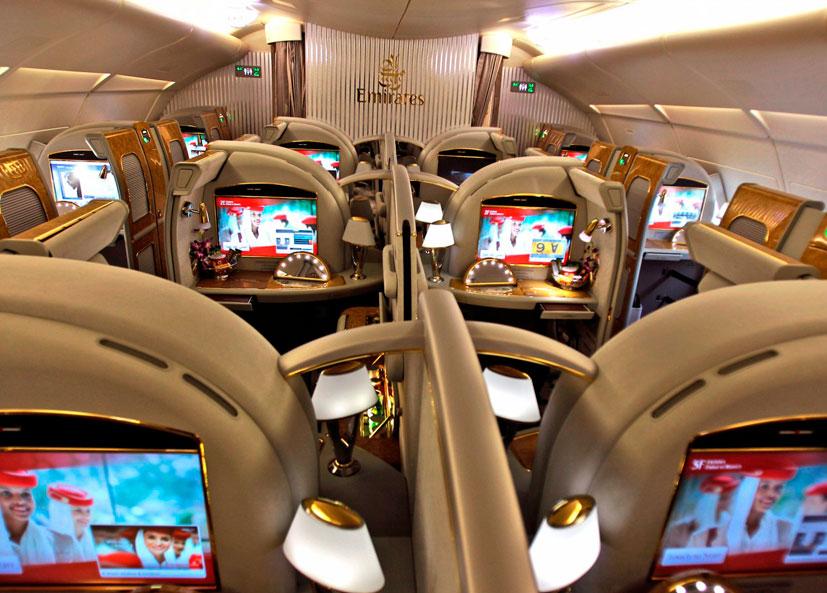 Suítes atuais da Emirates