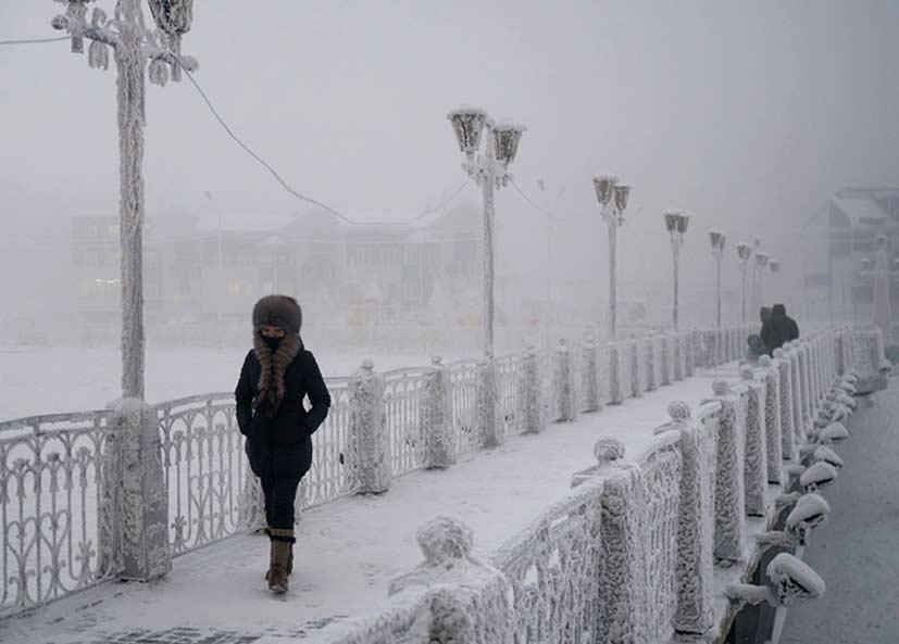 Local Habitado mais frio do planeta: Oymyako, Siberia
